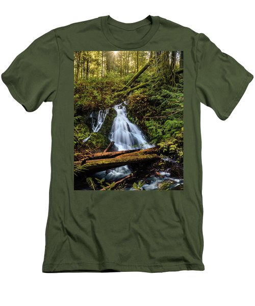 Waterfall Men's T-Shirt (Slim Fit) by Keith Boone