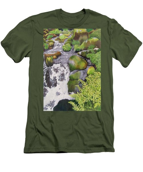 Waterfall On Skye Men's T-Shirt (Athletic Fit)
