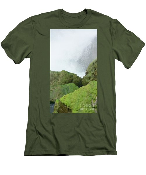 Men's T-Shirt (Slim Fit) featuring the photograph Waterfall by Raymond Earley
