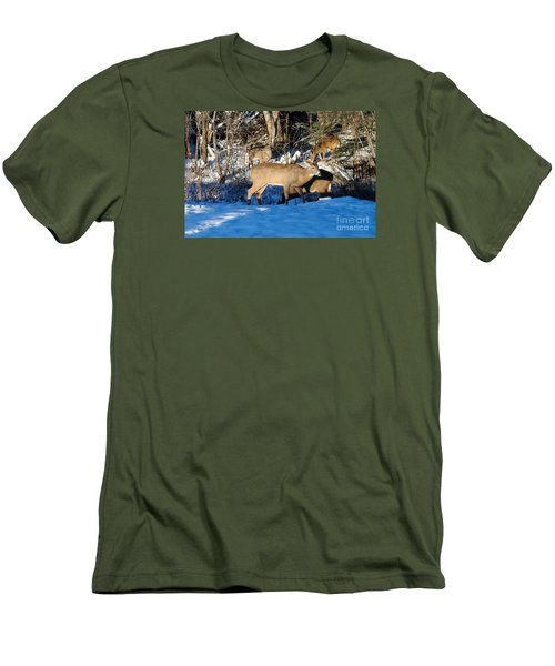 Waterhole Gathering Men's T-Shirt (Slim Fit) by Sandra Updyke