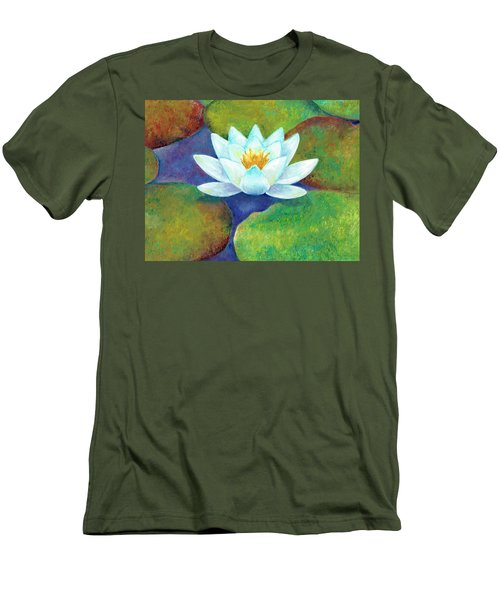 Men's T-Shirt (Athletic Fit) featuring the painting Waterlily by Elizabeth Lock