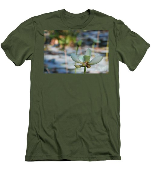 Waterlily Wash Horizontal Men's T-Shirt (Athletic Fit)