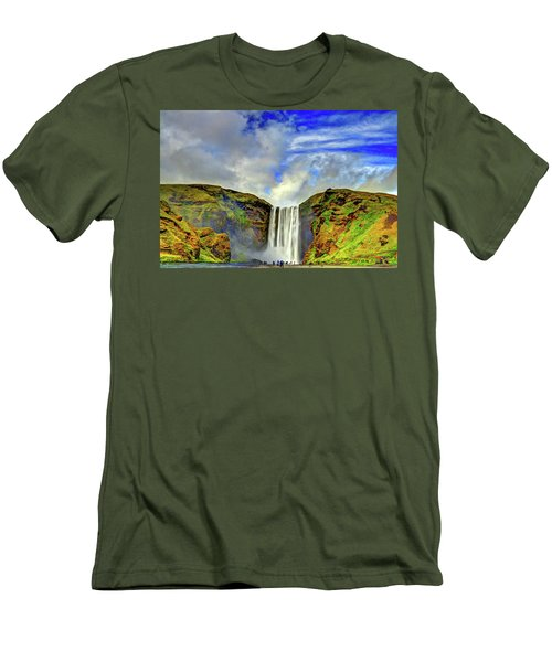 Men's T-Shirt (Slim Fit) featuring the photograph Watermall And Mist by Scott Mahon