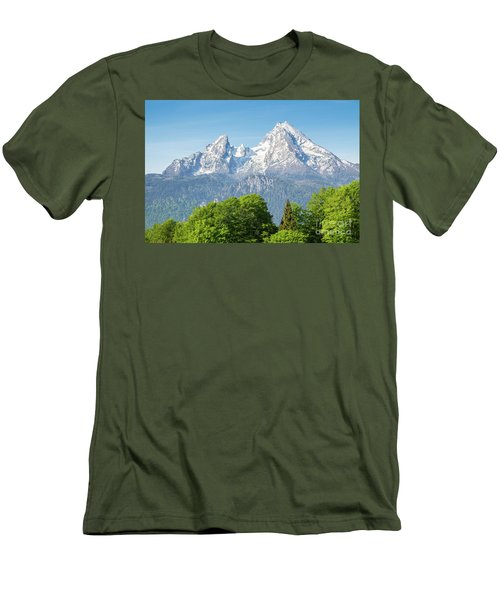 Watzmann Men's T-Shirt (Slim Fit) by JR Photography