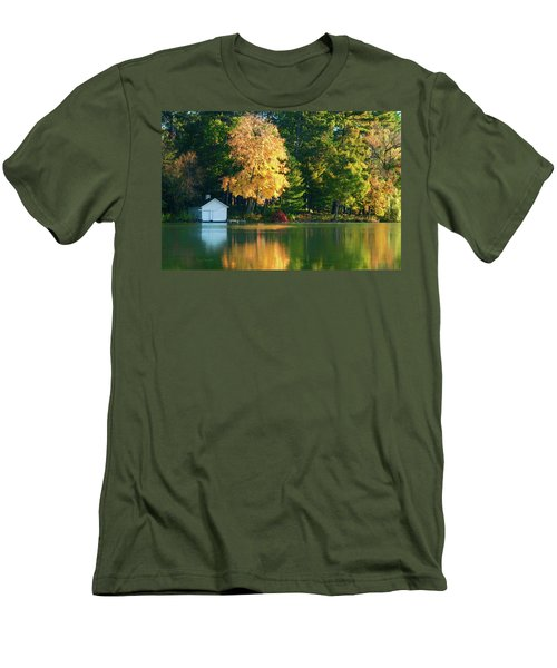 Waupaca Chain Boathouse Men's T-Shirt (Slim Fit) by Trey Foerster