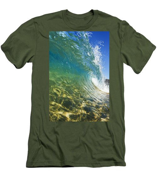 Wave - Makena Men's T-Shirt (Slim Fit) by MakenaStockMedia
