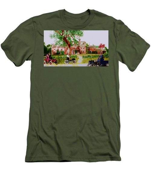 Wayside Inn With Autos Men's T-Shirt (Athletic Fit)