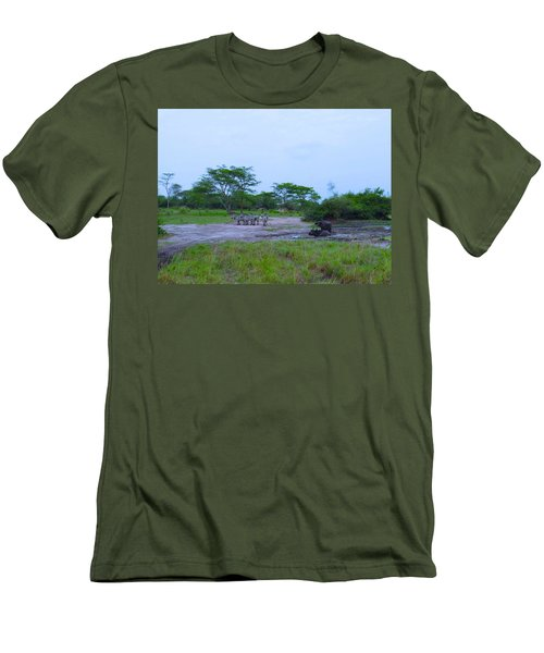 We Live Happily Side By Side Men's T-Shirt (Slim Fit) by Exploramum Exploramum
