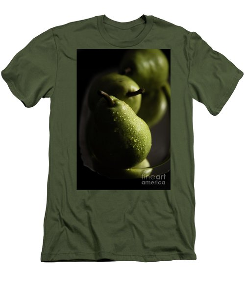 We Three Pears Men's T-Shirt (Slim Fit) by Deborah Klubertanz