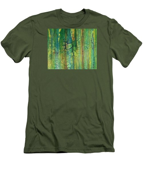 Weathered Moss Men's T-Shirt (Athletic Fit)