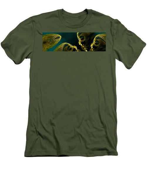 Men's T-Shirt (Slim Fit) featuring the digital art Weed 1 by Ron Bissett
