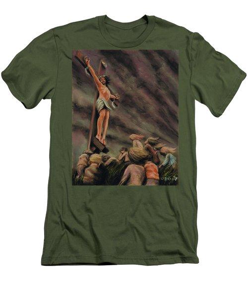 Weeping Children Men's T-Shirt (Slim Fit) by Dave Luebbert