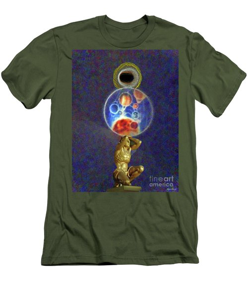 Weight Of The World Men's T-Shirt (Slim Fit) by Lyric Lucas