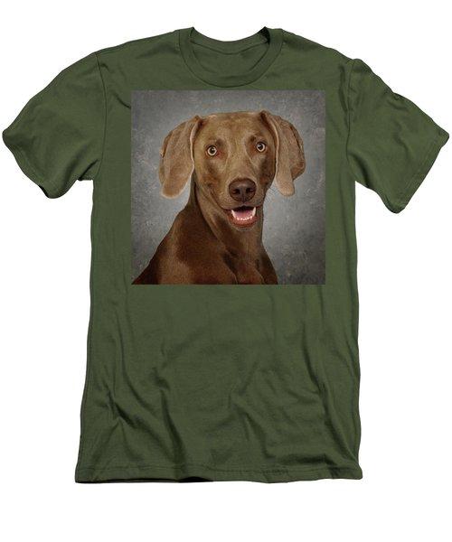 Men's T-Shirt (Slim Fit) featuring the photograph Weimaraner by Greg Mimbs