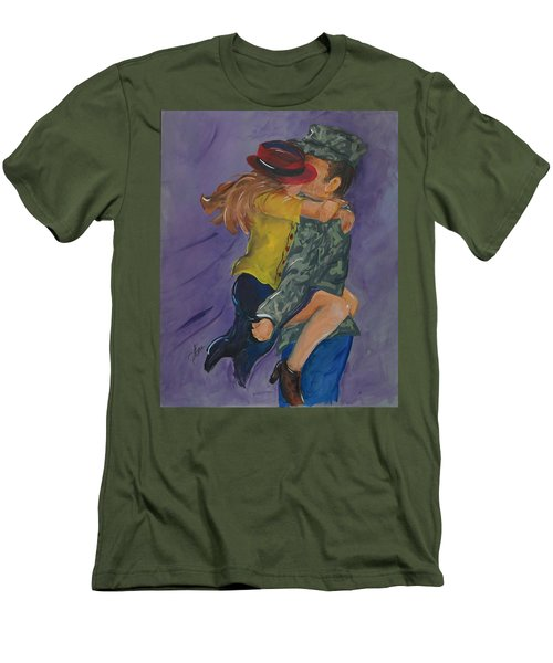 Welcome Home Men's T-Shirt (Slim Fit) by Terri Einer