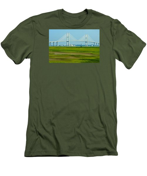 Men's T-Shirt (Slim Fit) featuring the photograph Welcome To Brunswick by Laura Ragland