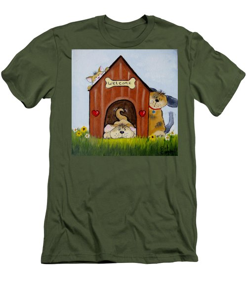 Welcome To The Doghouse Men's T-Shirt (Athletic Fit)