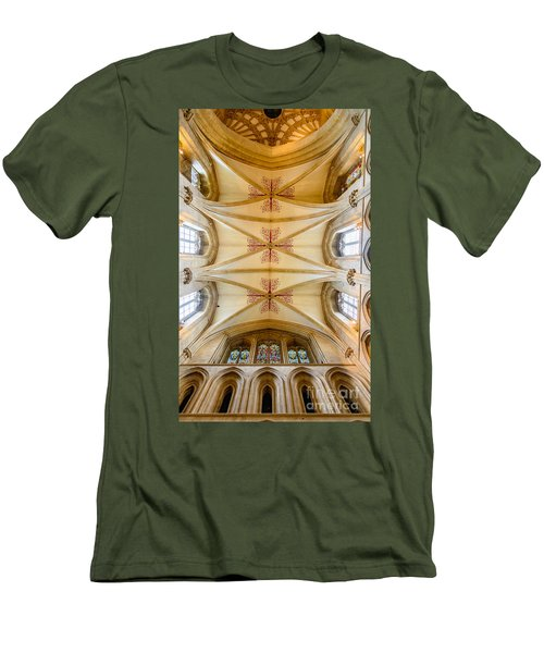 Wells Cathedral Ceiling Men's T-Shirt (Slim Fit) by Colin Rayner