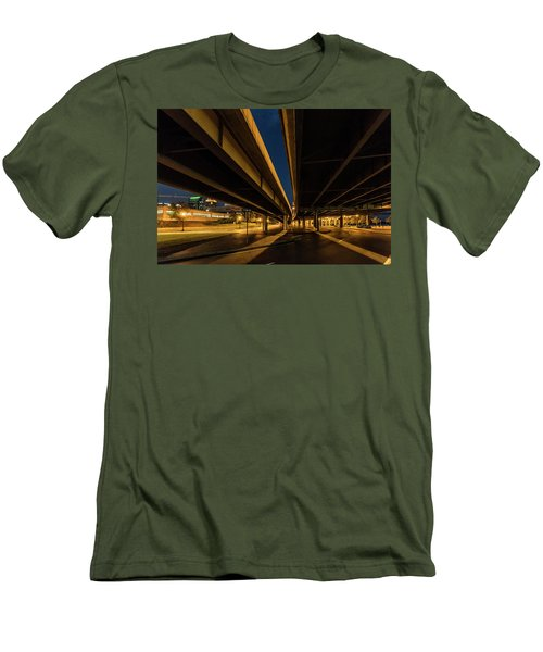 Men's T-Shirt (Athletic Fit) featuring the photograph West River Road by Randy Scherkenbach