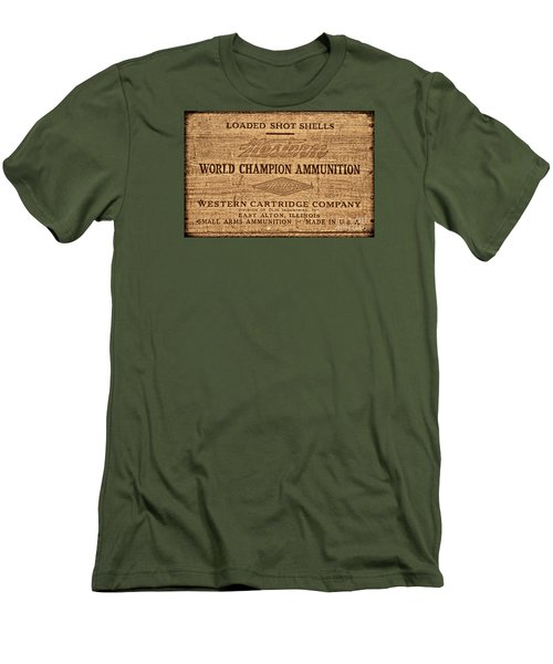Western Ammunition Box Men's T-Shirt (Slim Fit) by American West Legend By Olivier Le Queinec