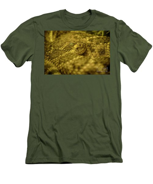 Men's T-Shirt (Slim Fit) featuring the photograph Western Diamondback Rattlesnake by Anne Rodkin