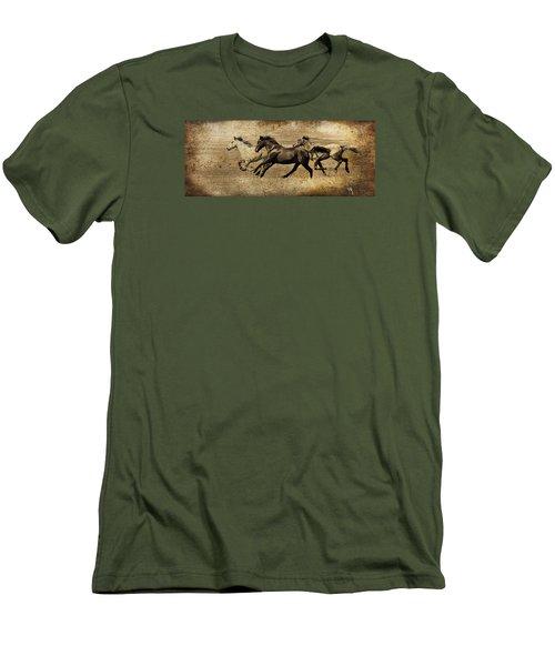 Western Flair Men's T-Shirt (Slim Fit) by Steve McKinzie