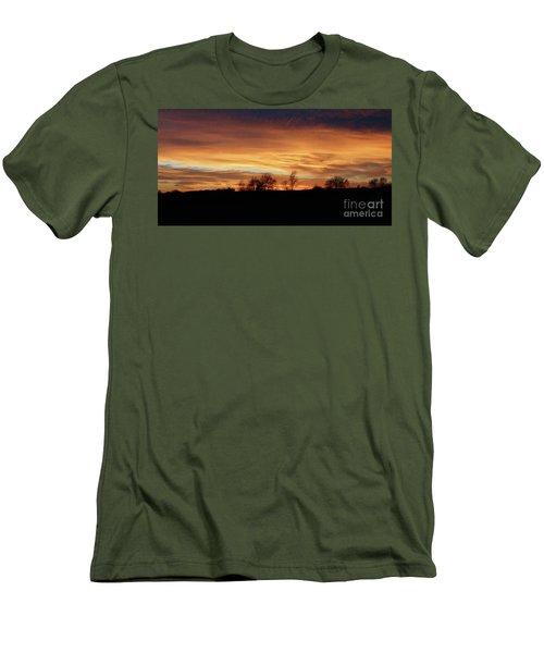 Western Sky December 2015 Men's T-Shirt (Slim Fit) by J L Zarek
