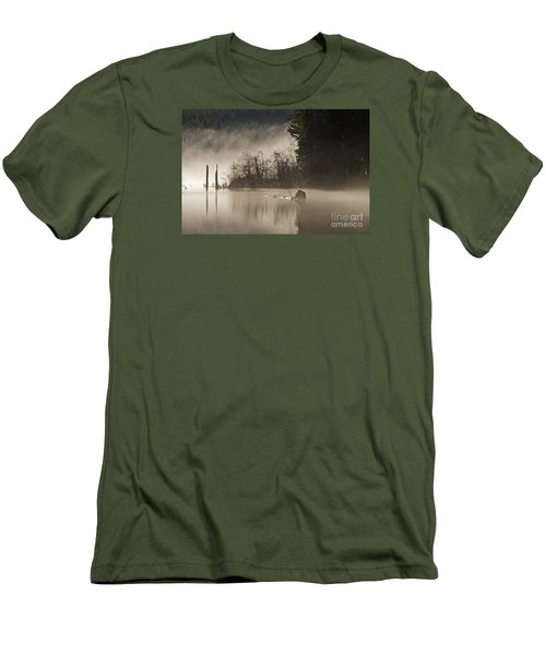 Men's T-Shirt (Slim Fit) featuring the photograph Westwood Lake by Inge Riis McDonald