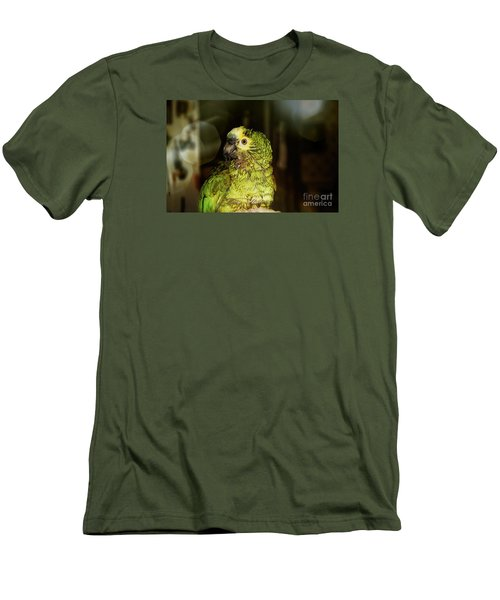 Men's T-Shirt (Slim Fit) featuring the photograph Wet Parrot by Melissa Messick