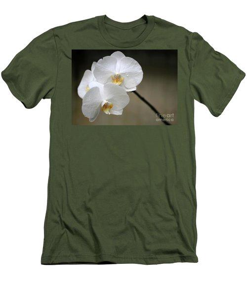 Wet White Orchids Men's T-Shirt (Athletic Fit)