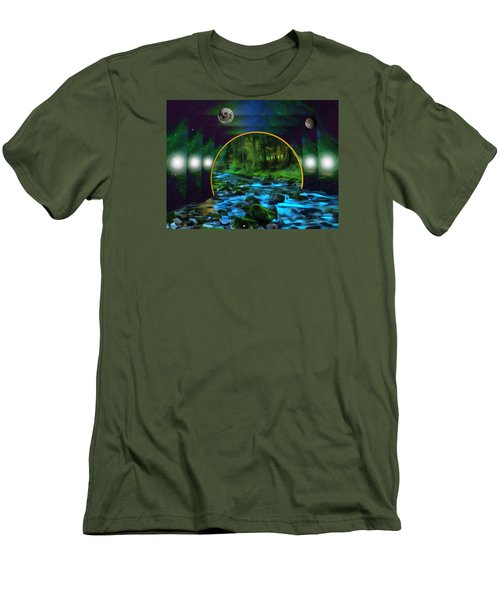 Whare Peaceful Waters Flow Men's T-Shirt (Athletic Fit)