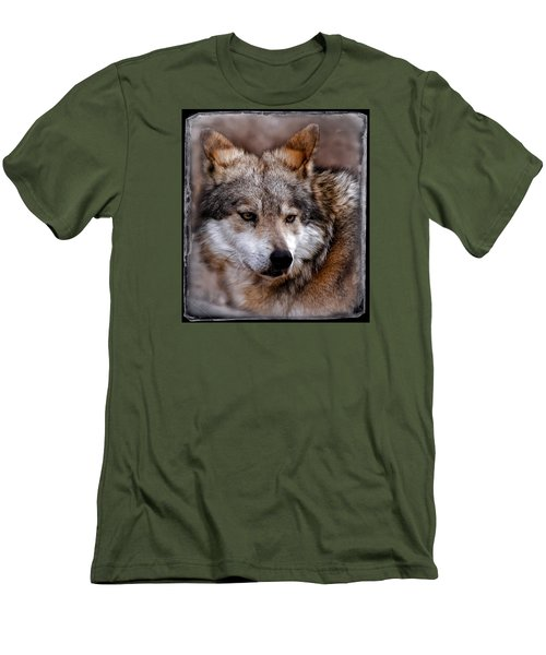 Men's T-Shirt (Slim Fit) featuring the photograph What Was That by Elaine Malott
