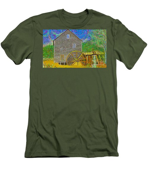 Water Wheel  Men's T-Shirt (Athletic Fit)