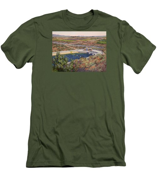 Where The Aqueduct Goes Underground Men's T-Shirt (Slim Fit) by Jane Thorpe