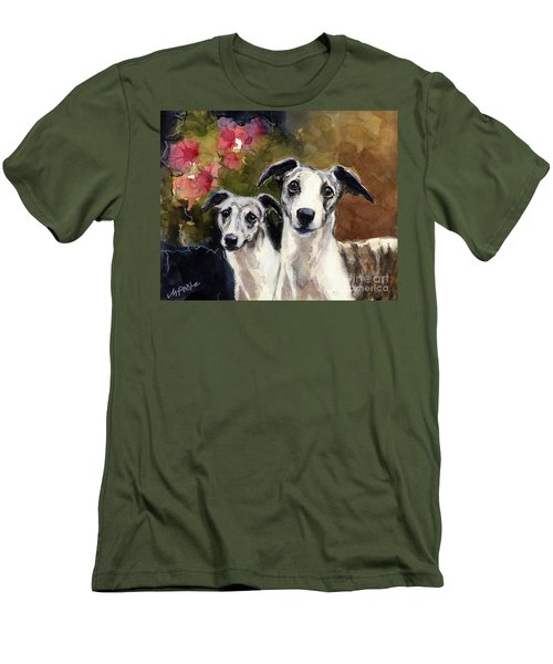 Whippets Men's T-Shirt (Slim Fit) by Molly Poole