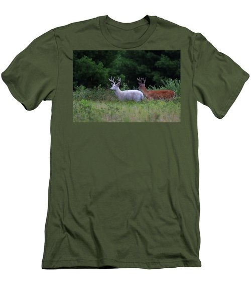 White And Brown Bucks Men's T-Shirt (Athletic Fit)
