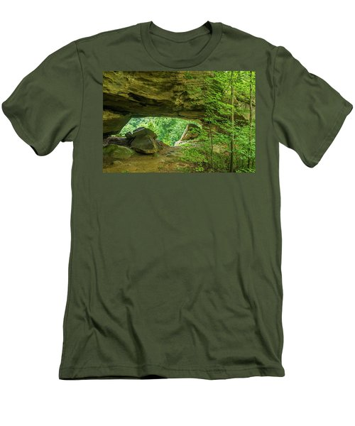 White Branch Arch Men's T-Shirt (Slim Fit) by Ulrich Burkhalter