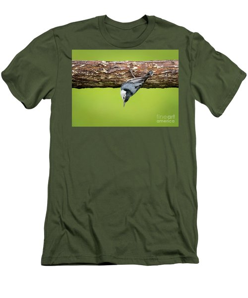 Men's T-Shirt (Athletic Fit) featuring the photograph White-breasted Nuthatches by Ricky L Jones