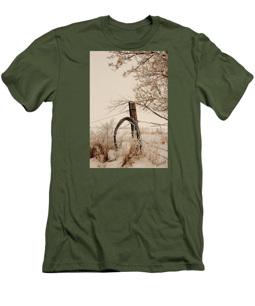 White Fence Men's T-Shirt (Athletic Fit)