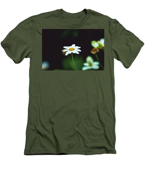 White Flower Men's T-Shirt (Slim Fit) by Hyuntae Kim