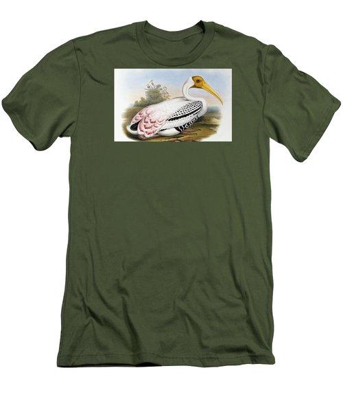 White-headed Ibis, Tantalus Leucocephalus Men's T-Shirt (Athletic Fit)