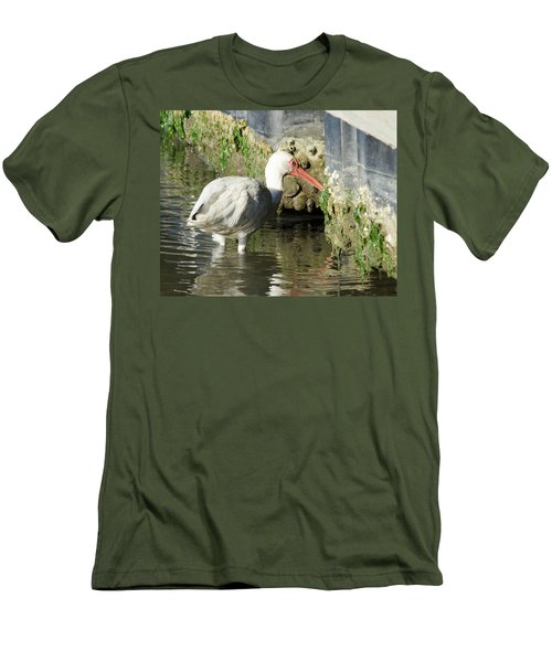 White Ibis Headed Home Men's T-Shirt (Slim Fit) by George Randy Bass