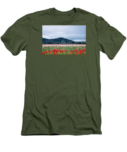 White Pass Highway With Tulips Men's T-Shirt (Slim Fit) by E Faithe Lester