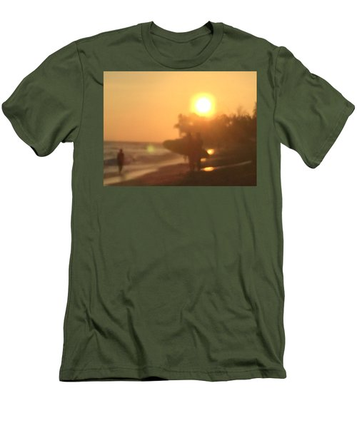 White Plains Beach Men's T-Shirt (Athletic Fit)