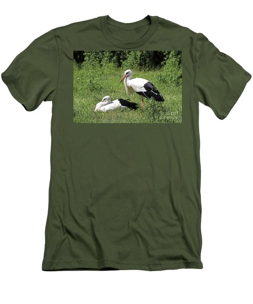 White Storks Men's T-Shirt (Athletic Fit)
