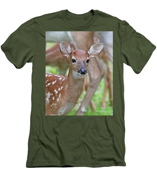 White Tail Deer Fawn Men's T-Shirt (Athletic Fit)