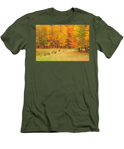 White Tail Deer Herd Men's T-Shirt (Athletic Fit)