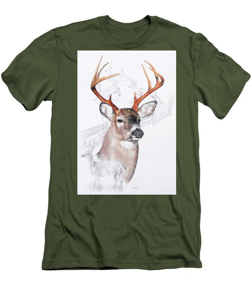 White-tailed Deer Men's T-Shirt (Slim Fit) by Barbara Keith