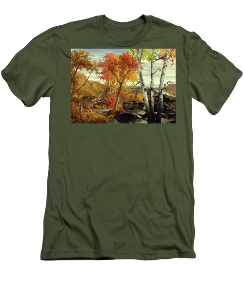 White-tailed Deer In The Poconos Men's T-Shirt (Athletic Fit)