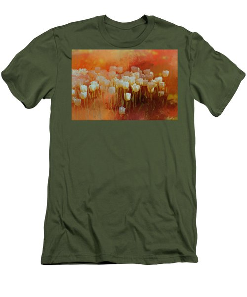 White Tulips Men's T-Shirt (Athletic Fit)